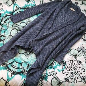 Blue Flowy Open Cardigan